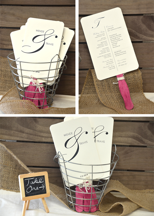 Wedding Fan Ideas from CraftyStickscom