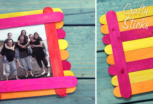 Popsicle stick craft ideas from for Picture frame crafts for adults
