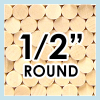 Wood Dowels -Round 1/2