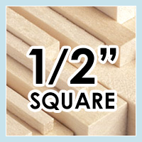 Wood Dowels -Square 1/2