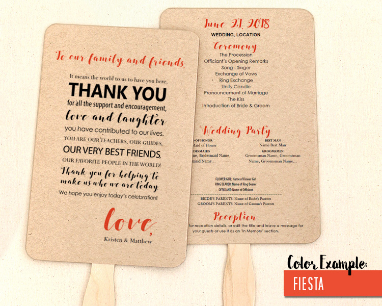 wedding program thank you messages thevillas co