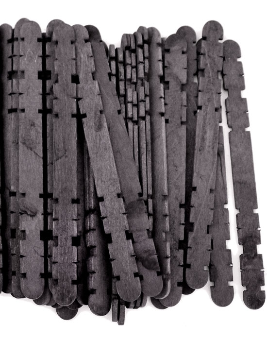 Hobby Craft Sticks -Black
