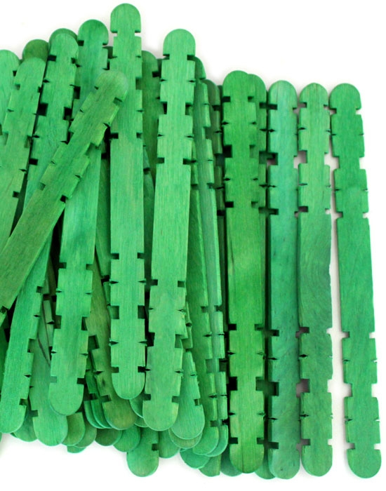Hobby Craft Sticks -Green