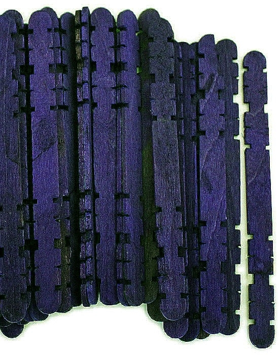Hobby Craft Sticks -Midnight Purple
