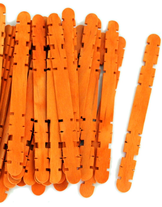 Hobby Craft Sticks -Orange
