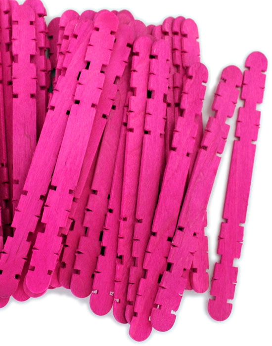 Hobby Craft Sticks -Pink