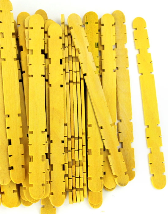 Hobby Craft Sticks -Yellow