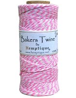 Hemptique Baker's Twine 125 meters -Pink White