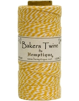 Hemptique Baker's Twine 125 meters -Yellow White