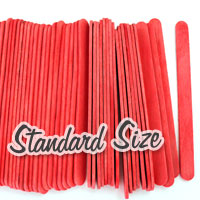 Standard Craft Sticks -Red