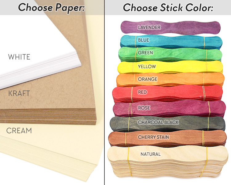 wedding program fan kit cool color choices at craftysticks diy