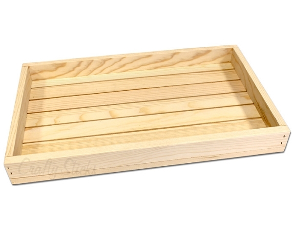Shallow Wood Tray