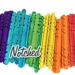 Hobby Craft Sticks -Multi Color Pack