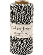 Hemptique Baker's Twine 125 meters - Black / White