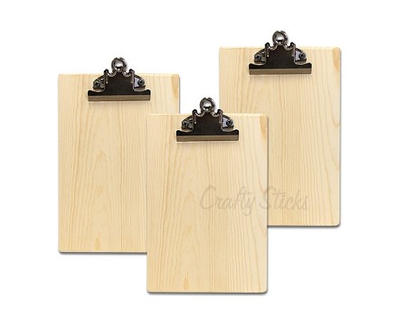 Set of 3 Wood Clipboards
