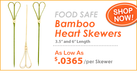 Wholesale Bamboo Heart Skewers at Crafty Sticks!