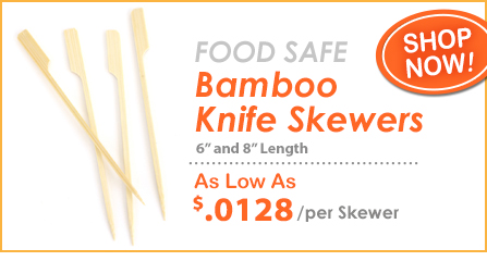 Food Safe Bamboo Knife Skewers at Crafty Sticks!