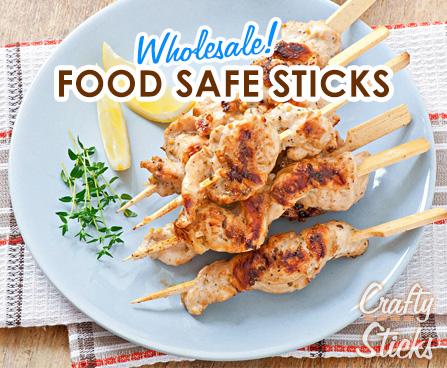 New! Food Safe Bamboo Sticks!