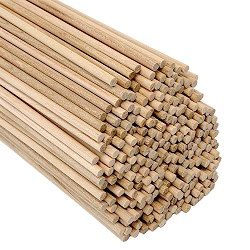 Round Pine Wood Dowel, 1/8 x 12 Inch, Made in the USA