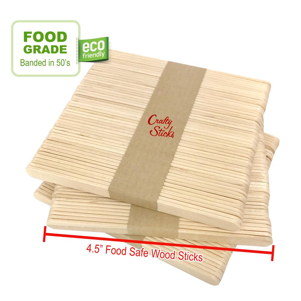 Wood Food Safe Popsicle Sticks