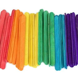 4.5 Inch Standard Craft Popsicle Sticks -Multi Color Pack
