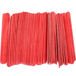 4.5 Inch Standard Craft Popsicle Sticks -Red