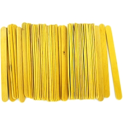 4.5 Inch Standard Craft Popsicle Sticks -Yellow