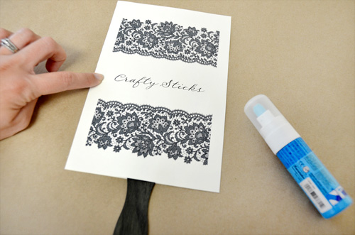 How to make wedding program fans make sure to use clean fingers or use a clean bone folder even a small amount of grease or glue can leave a mark on your beautiful program design solutioingenieria Image collections