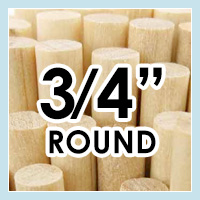 Wood Dowels -Round 3/4