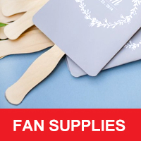 DIY Wedding Fan Supplies