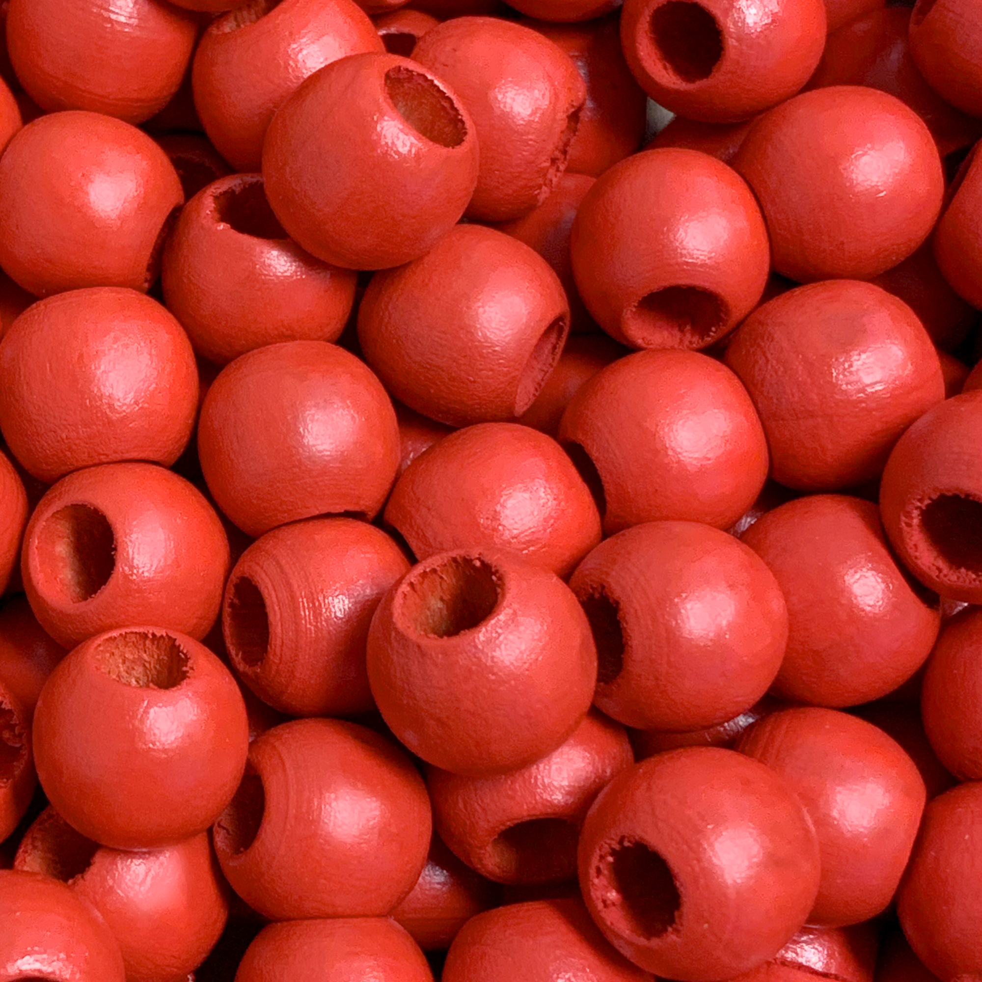 12mm Groove Bead in coral-red  5Pcs PK0048/_12mm/_251