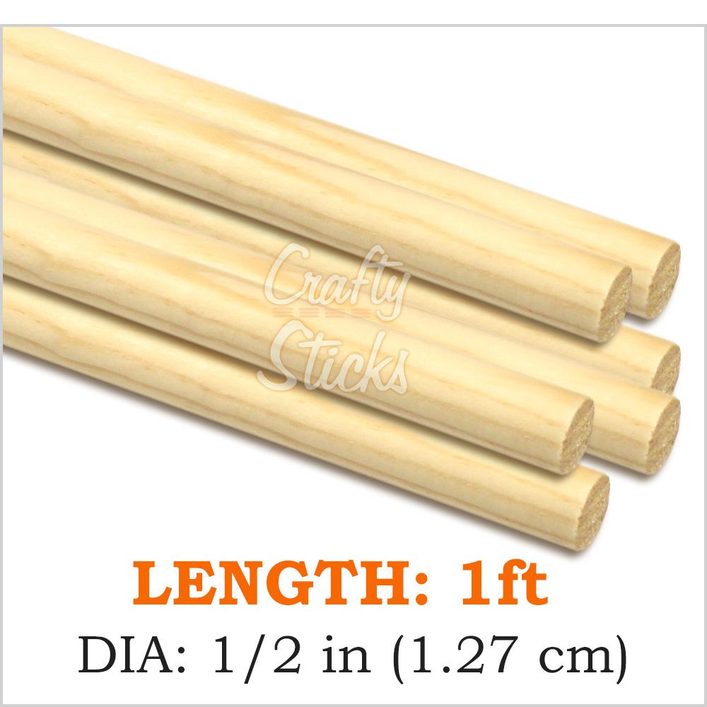 Round Wooden Dowel Sticks 1 2 Inch By 12 Inch At Crafty Sticks