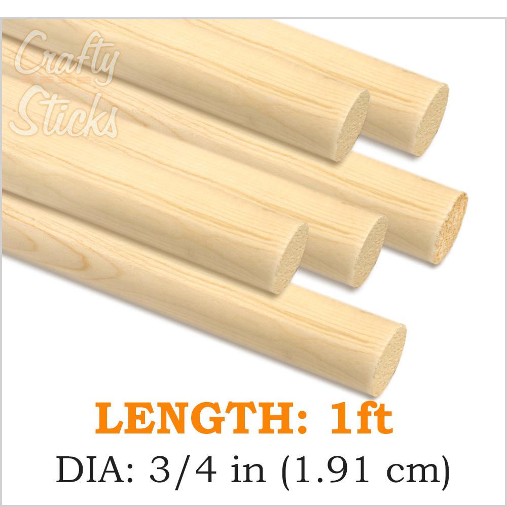 Round Wooden Dowel Sticks 3 4 Inch At Crafty Sticks