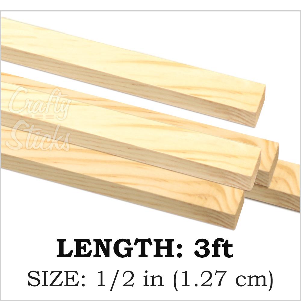 Square Wooden Dowel Sticks 12 Inch At Crafty Sticks