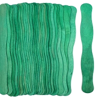 Wavy Jumbo Fan Sticks -GREEN