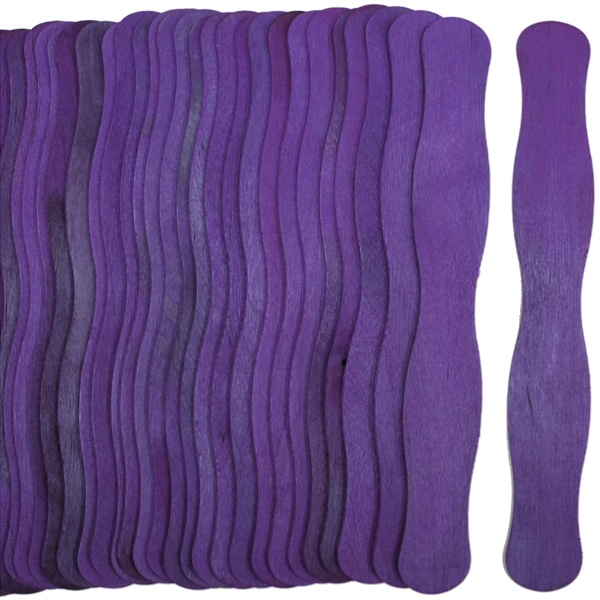 Wavy Jumbo Fan Sticks -PURPLE