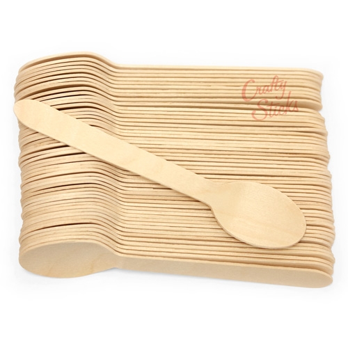 Disposable Wooden Spoon Heavy Weight