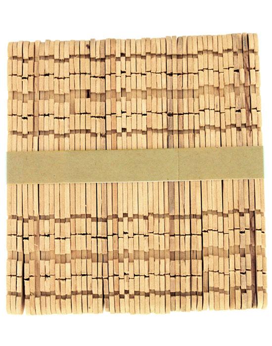 Wood Notched Hobby Sticks