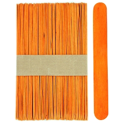 6 Inch Jumbo Colored Craft Sticks -Orange