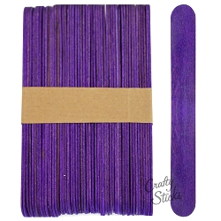 6 Inch Jumbo Colored Craft Sticks -Purple