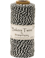 Hemptique Baker's Twine 125 meters -Black White