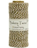 Hemptique Baker's Twine 125 meters -Light Brown White