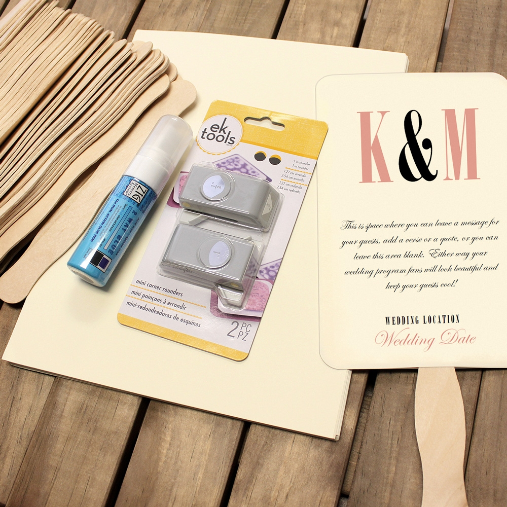 Wedding Program Fan Kit