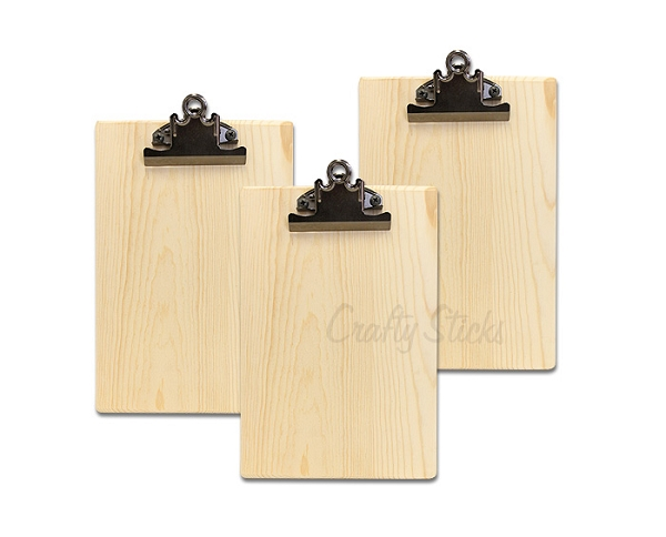 natural wood clipboard for home decor photo display and organization