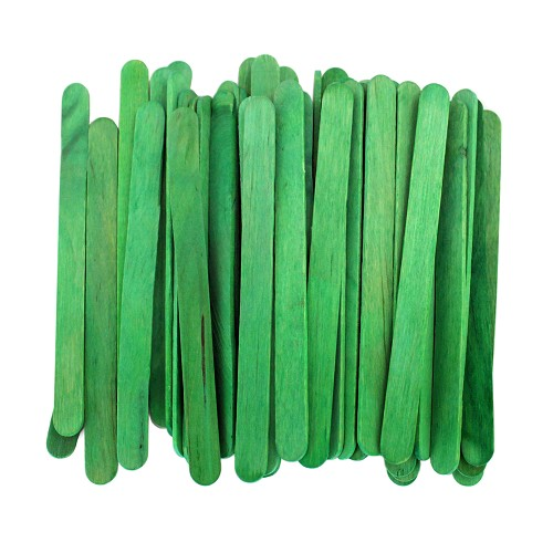 4.5 Inch Standard Craft Popsicle Sticks -Green