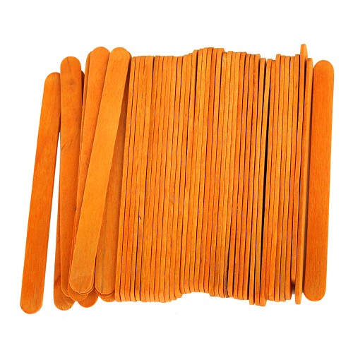 4.5 Inch Standard Craft Popsicle Sticks -Orange