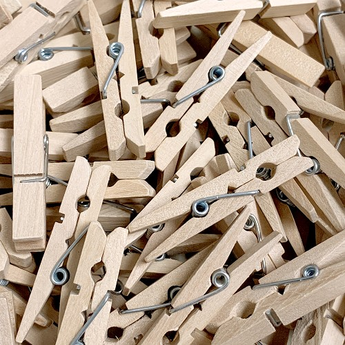 45mm Wood Clothes Pin Clips