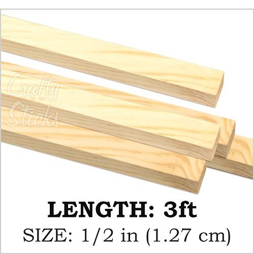 Square Wooden Dowel Sticks 1 2 Inch At Crafty Sticks