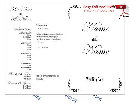 border scrolls 1 wedding program fan cool colors