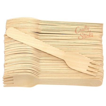 Disposable Wooden Fork Heavy Weight